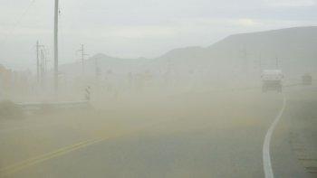 martes ventoso con rafagas de hasta 97 km/h