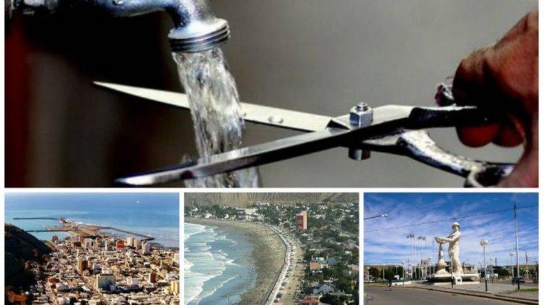 Corte de agua hasta mañana al mediodía en Comodoro, Rada Tilly y Caleta Olivia