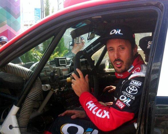 Nazareno López probará el jueves el Ford Fiesta que usará en el Rally Cross en Catamarca.