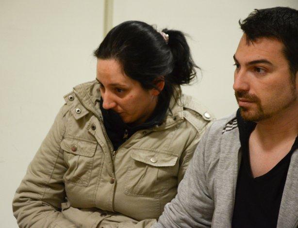 Nadia Kesen y su pareja Sergio Solís. Todos los detenidos en torno al crimen de Domingo Expósito Moreno fueron alojados en la alcaidía