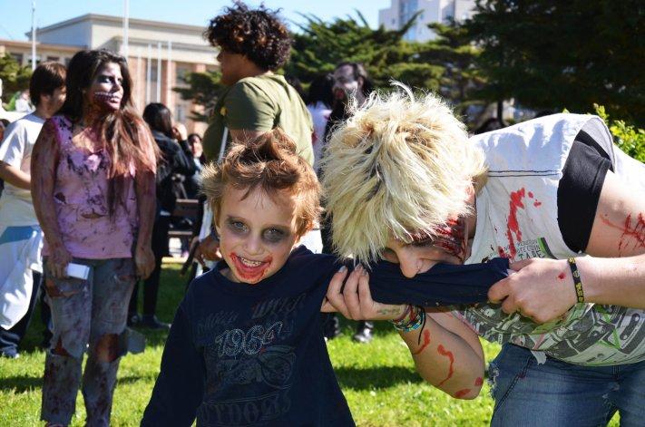 Los zombies que pueden verse hoy son más que nada realizados por su cuenta