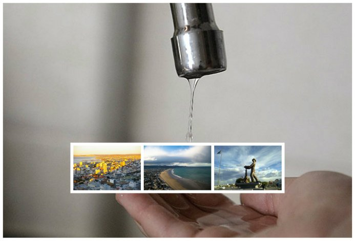 Cortan el agua en Comodoro, Rada Tilly y Caleta Olivia