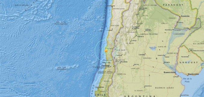 Diez temblores sacudieron cuatro regiones del sur de Chile