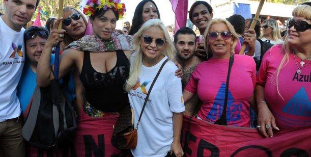 Verónica Ojeda participó de la Marcha del Orgullo