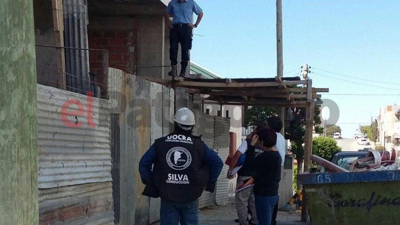 Así vivían 15 trabajadores en una obra de la calle Rawson