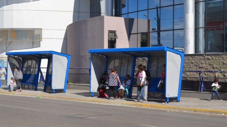 Garita sobre la calle San Martín.