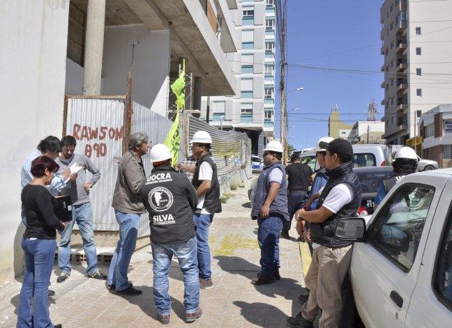 La construcción de Rawson al 800 donde se corroboró las condiciones de trabajo de los obreros.