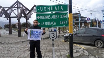 El tandilense Martín Rodríguez emprendió una cruzada solidaria para recaudar donaciones por todo el país.