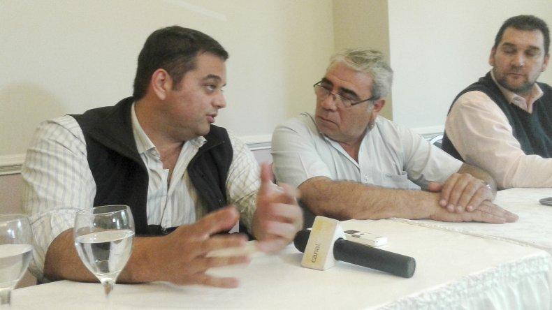 Jorge Triaca y Marcial Paz ayer