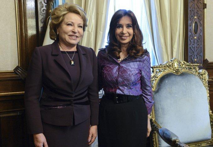 Cristina se reunió con la presidenta del Senado ruso