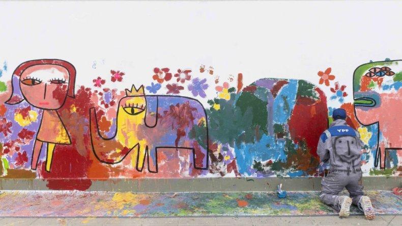 Finalizó la segunda jornada de arte comunitario de la mano de Milo Lockett