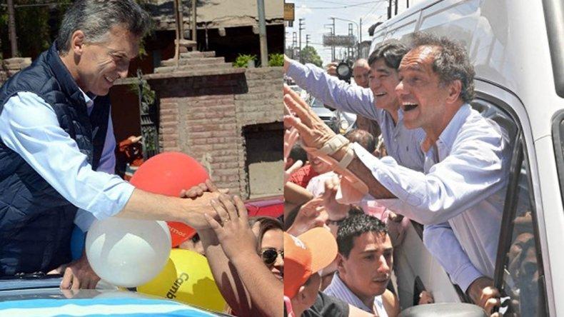 Macri y Scioli recorrieron Córdoba para captar los votos de De la Sota