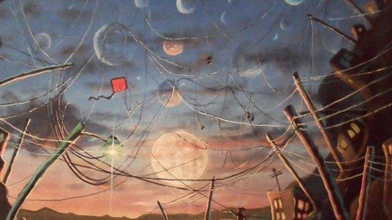 Ilustra una obra de César Barrientos Barrilete rojo