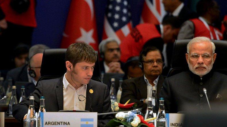 Axel Kicillof ayer durante su participación en la cumbre del G20.