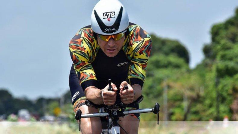 Andrés Nennhuber fue uno de los cuatro valores locales que midieron su resistencia en el Ironman de Fortaleza
