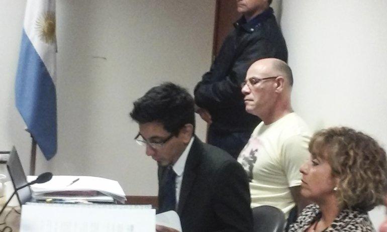 Claudio Lamonega ante los jueces. El hombre comenzó a ser juzgado por la muerte de su ex pareja