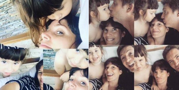 Las divertidas selfies de Griselda Siciliani y Adrián Suar con su hija Margarita