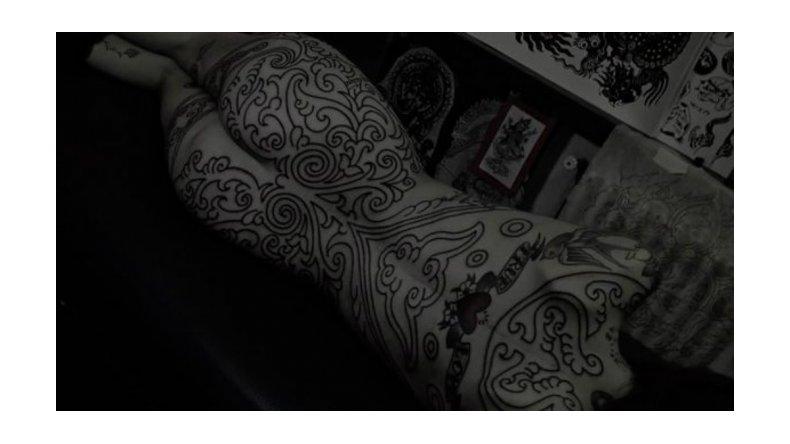 El tatuaje de Cande Tinelli que cubre todo su cuerpo