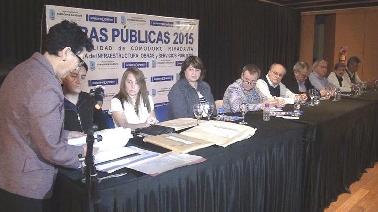 En el Centro Cultural se realizó la licitación de una importante obra para la zona norte de Comodoro Rivadavia