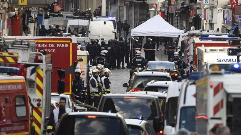 Operativo antiterrorista en la zona norte de París.