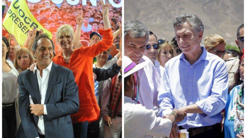 Los dos candidatos a la Presidencia encabezaron sus actos de cierre de campaña