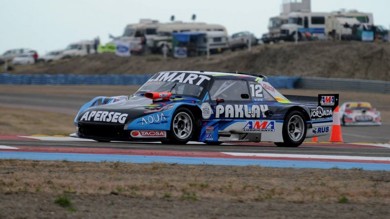 El Torino de Esteban Gini que ayer dominó los primeros ensayos del TC Pista en el autódromo General San Martín.