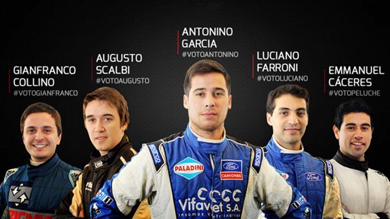 Los cinco pilotos que lucharán este fin de semana por la corona del TC2000.