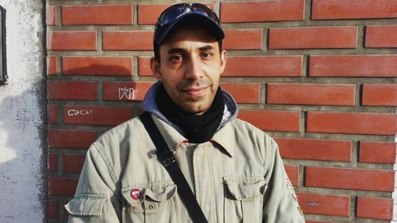 Cristian Estévez vino de Bahía Blanca a Comodoro para probar su prótesis.