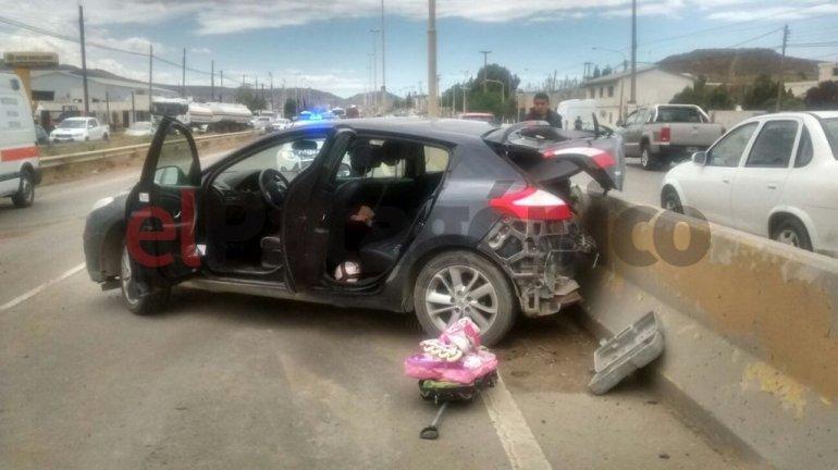 Dos niños resultaron heridos en choque sobre ruta 3