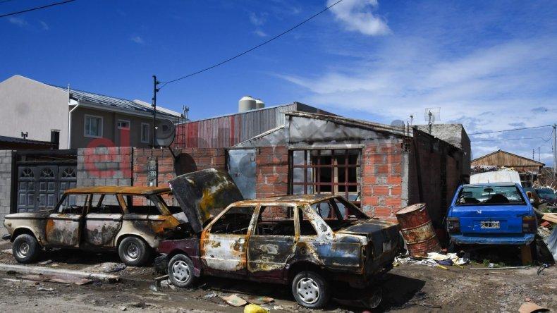 Incendiaron la casa de la familia Calderón. Foto: Mauricio Macretti / El Patagónico.