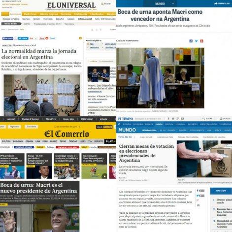 Los diarios de Latinoamérica reflejan el resultado del balotaje