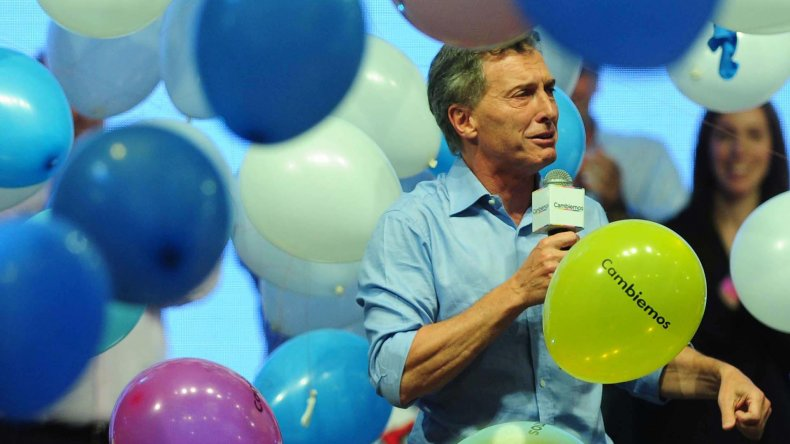 Macri festejó en el bunker de Cambiemos.