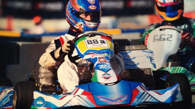 Javier Hernández fue uno de los pilotos comodorenses que corrió en Las Vegas.