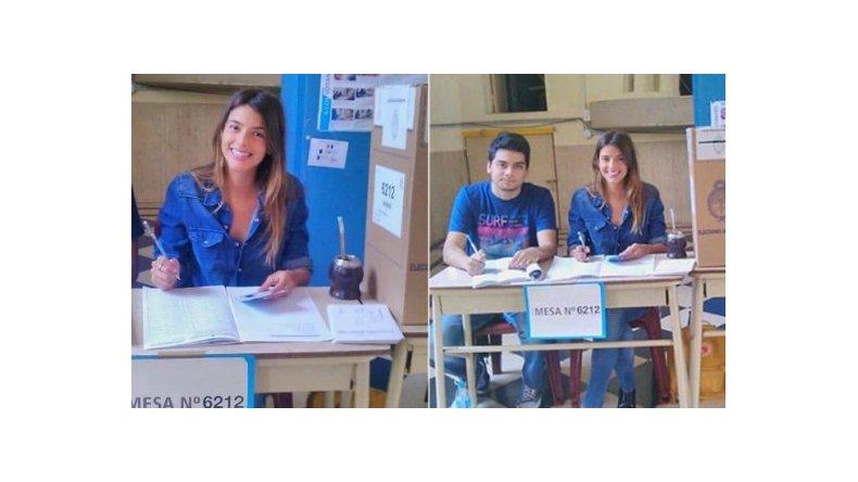 Calu Rivero, destacada presidenta de mesa en el histórico balotaje