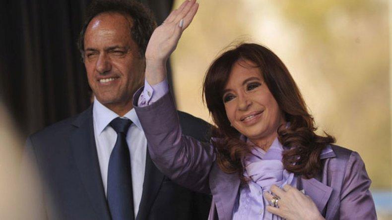 Cristina Fernández y Daniel Scioli se reunieron