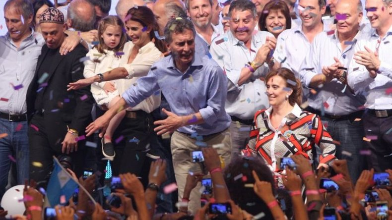 Así se vivió el festejo de Cambiemos por el triunfo de Mauricio Macri