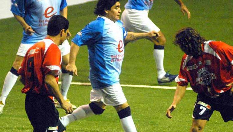 Diego Maradona vino dos veces a Comodoro Rivadavia