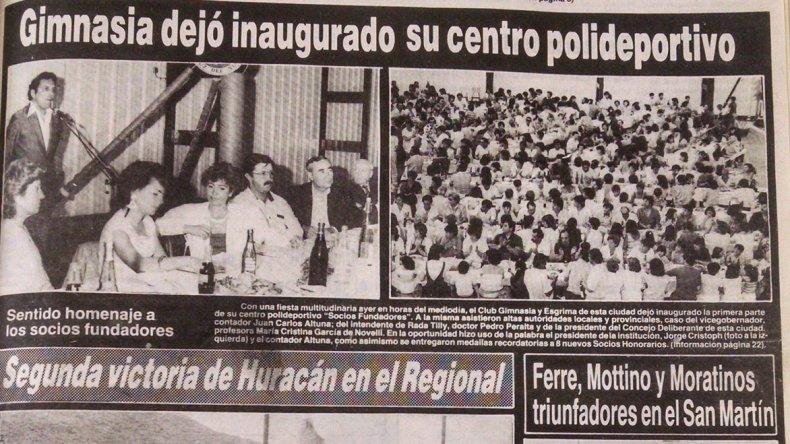 Diario El Patagónico publicó la inauguración del Socios.