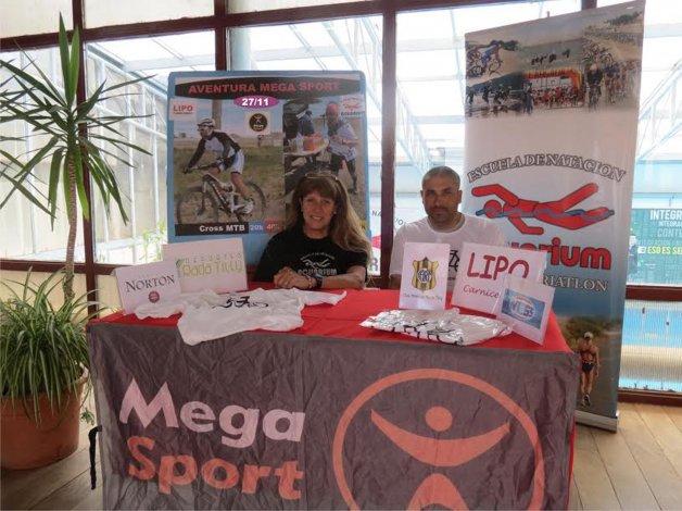 Nancy Regina y Oscar Encina presentaron el Desafío Mega Sport que se disputará el viernes que es feriado.