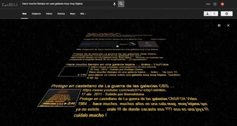 Para fanáticos de Star Wars: mirá qué hace Google