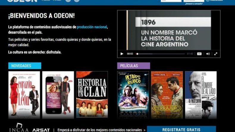 Odeon, el Netflix argentino y gratis