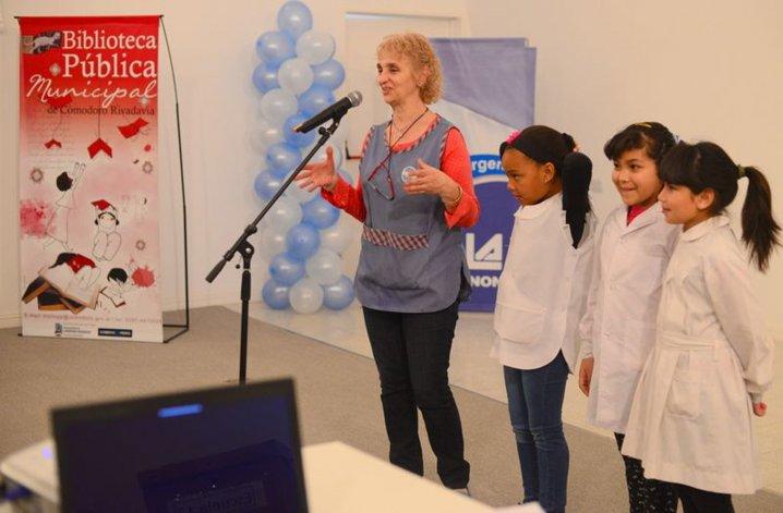 El cierre anual del programa Desafío Leer que se desarrolló ayer en el Centro de Información Pública.