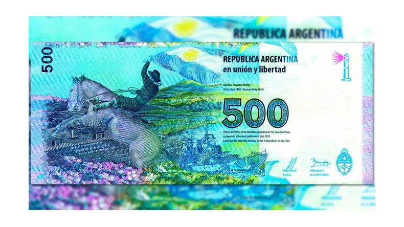 En enero emitirían el billete de 500 pesos