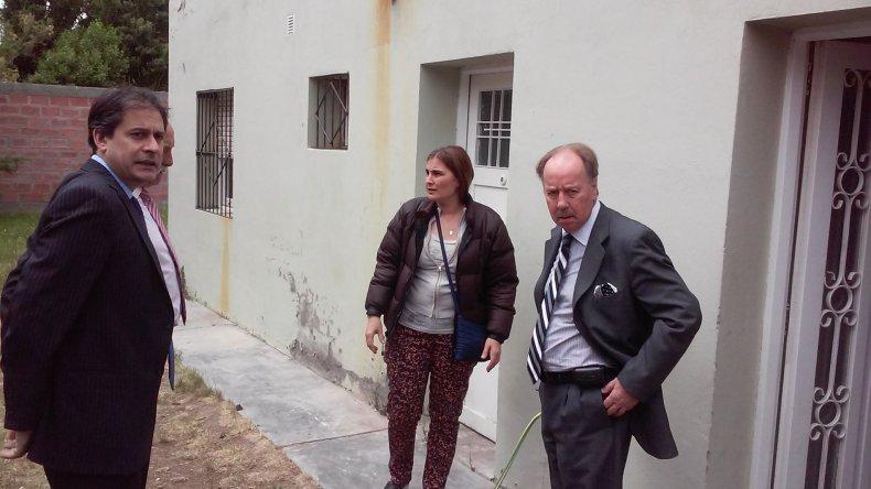 Juicio por triple de crimen: se realizó una recorrida por la casa de la calle Sarmiento.