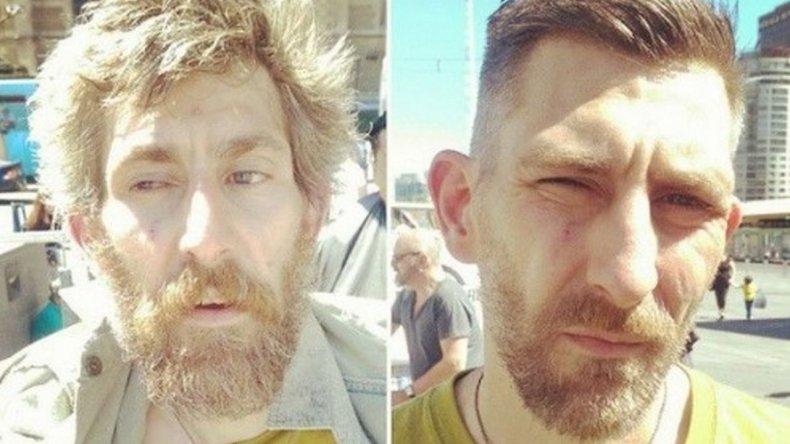 Un estilista camina las calles para cambiar el look de las personas sin hogar