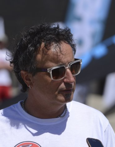 Alejandro Pezzali arribó desde Viedma. Tiene 48 años y practica el kitesurf desde 2009.