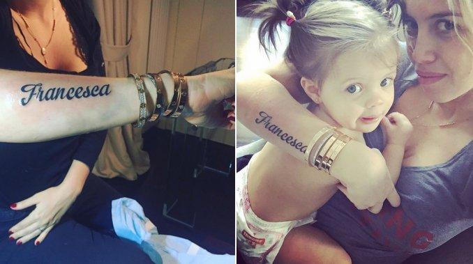 El jugado tatuaje de Wanda Nara con el nombre de su hija