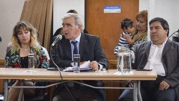 El secretario de Hacienda, Diego Touriñan, durante la audiencia pública de ayer.