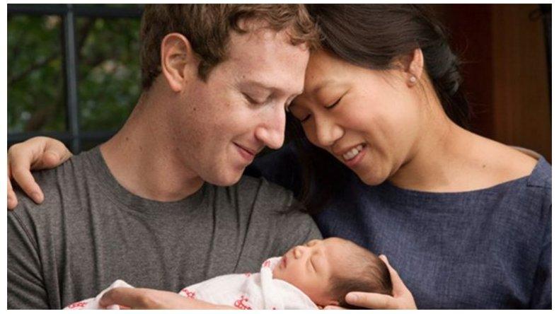 Nació la hija de Mark Zuckerberg y donará el 99% de su empresa