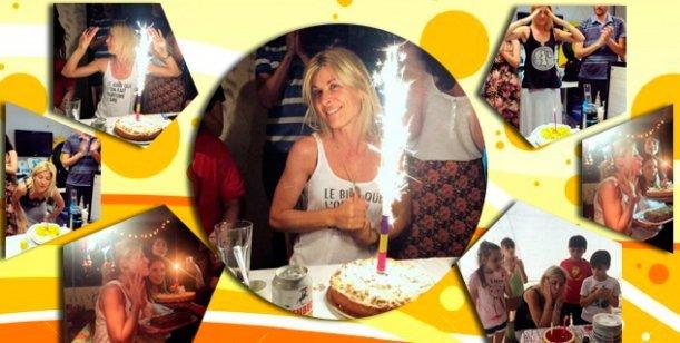 Eugenia Tobal festejó sus 40 años con amigos